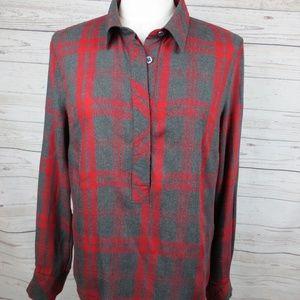 Cabi Women`s Shirt Size M 100% Rayon Long Sleeves